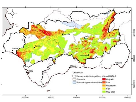 Acuíferos, incendios, mapa de riesgo de contaminación