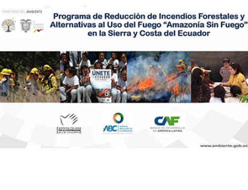 Amazonia sin fuego, un programa para reducir los incendios forestales