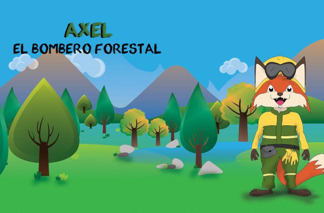 axel, bombero forestal, dibujo
