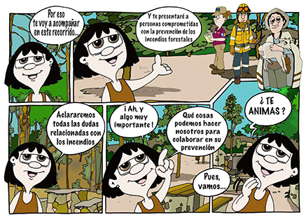 comic-prevencion-incendios-canaria