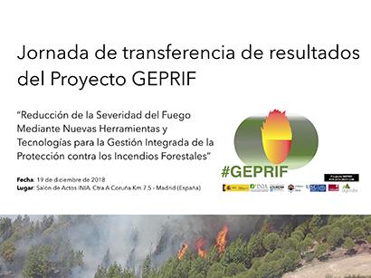 GEPRIF, proyecto, incendios