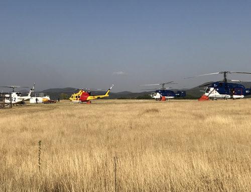 Principales tipos de helicópteros en la extinción de incendios en España