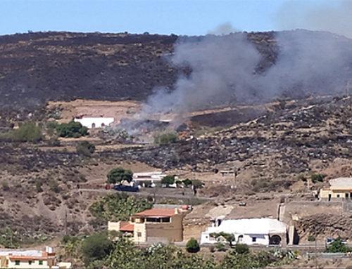El incendio de Artenara lleva quemadas 1.500 hectáreas