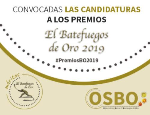 Abierta la convocatoria a los premios Batefuegos de Oro #PremiosBO2019