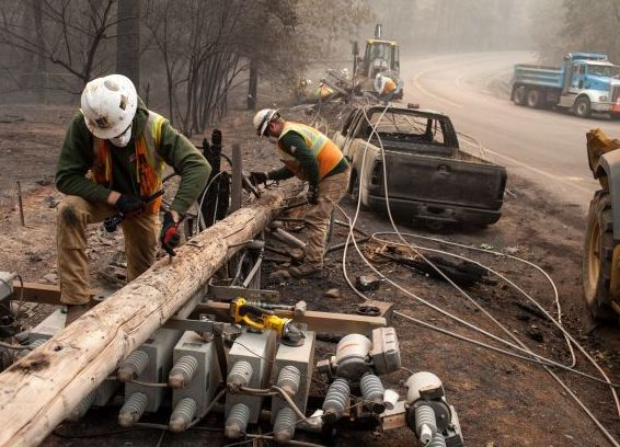 pacific gas electric, incendios forestales